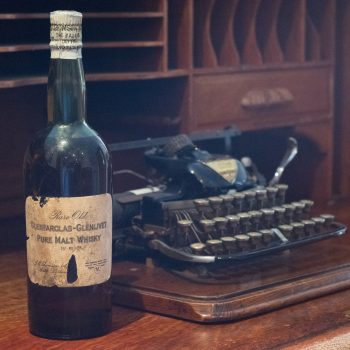 The Glenfarclas bottle dating from 1920 (photo: Glenfarclas Distillery