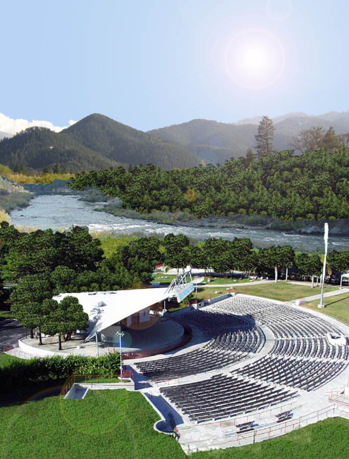 Grants Pass Amphitheater Grants Pass, Oregon Heiland Hoff Architecture Artistic Rendering by Heiland Hoff