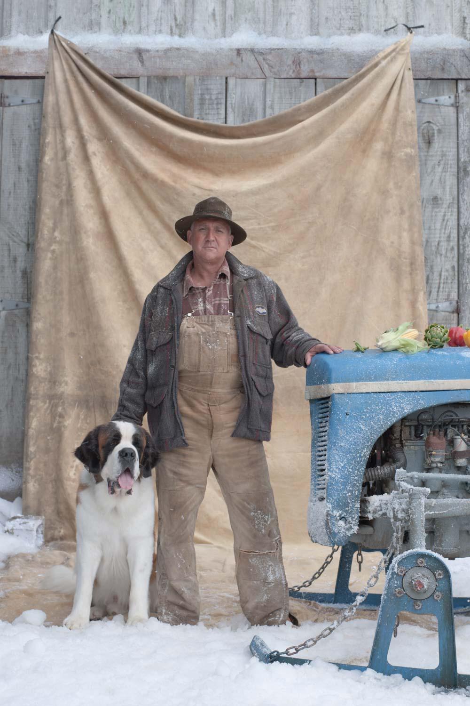 Farmer with a Dog