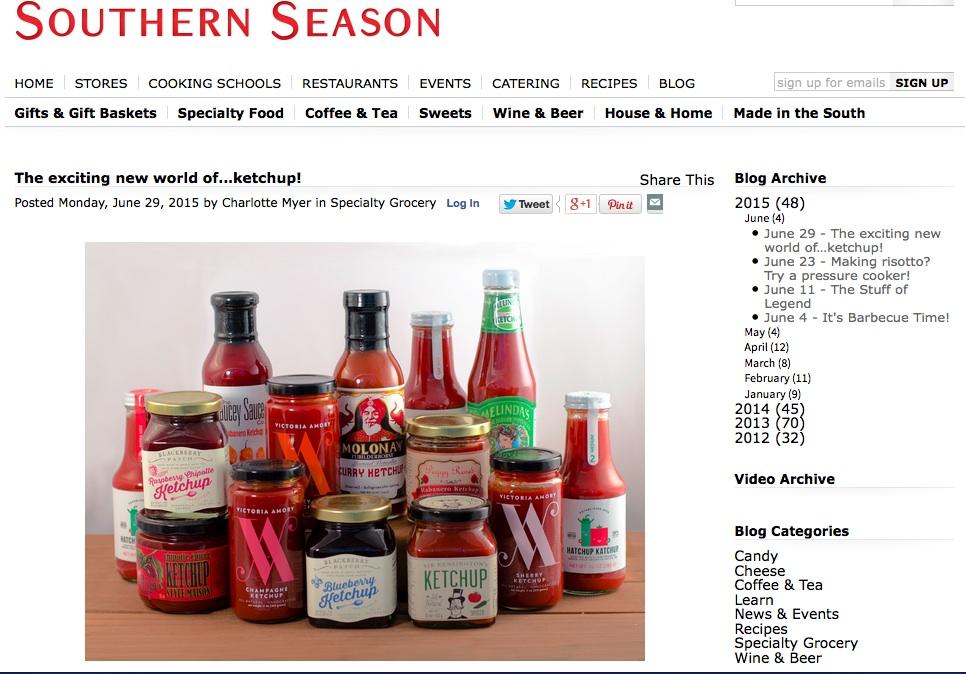Southern Season Gourmet Ketchup