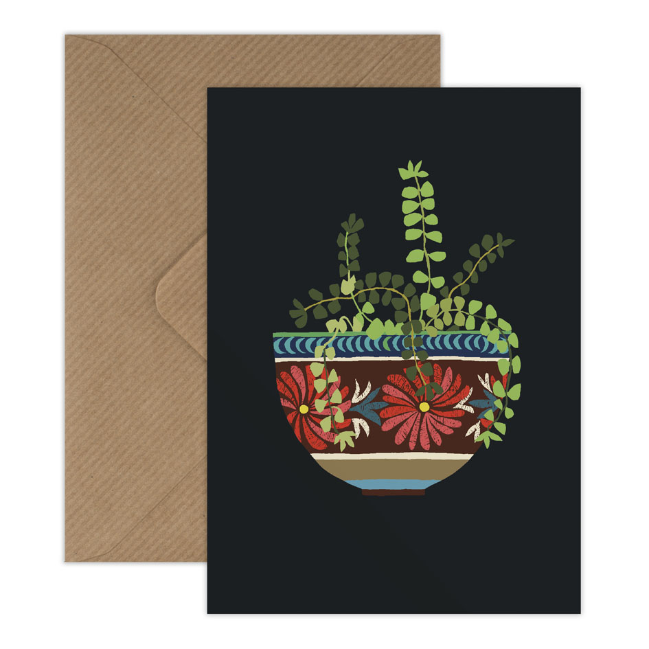 Mexican Bowl greetings card