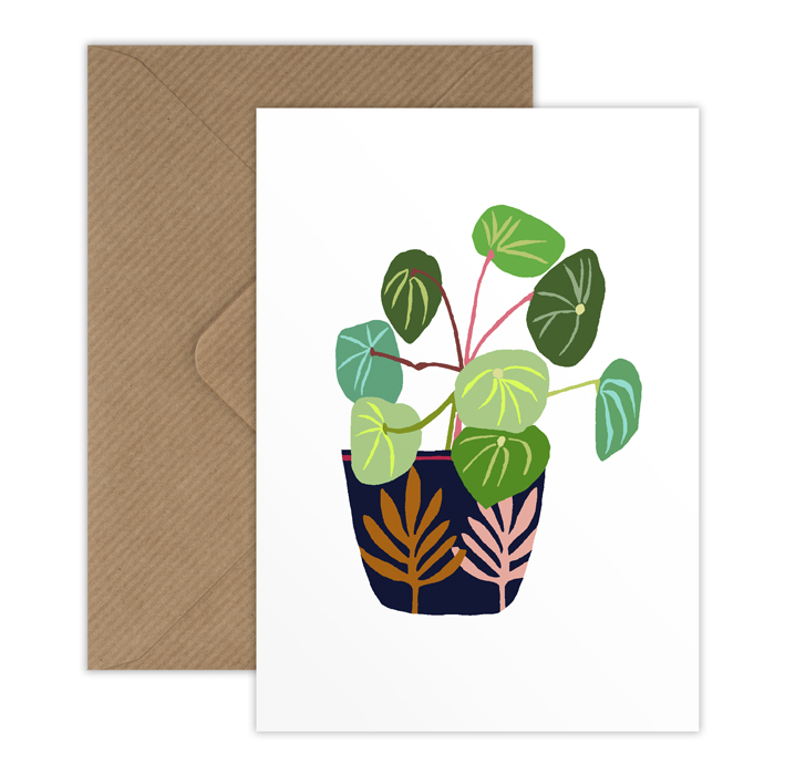 Coin Plant mini card with envelope