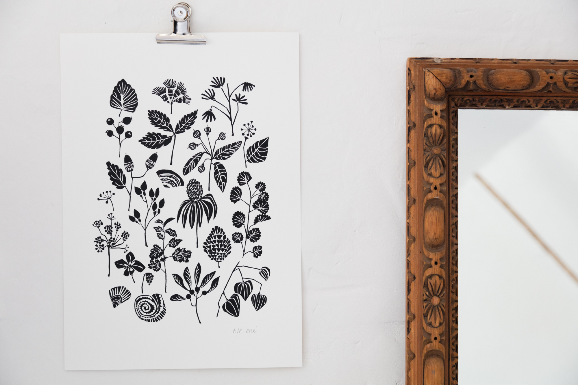 Seasons Change Screen Print available in my  shop    ©Brie Harrison 2018