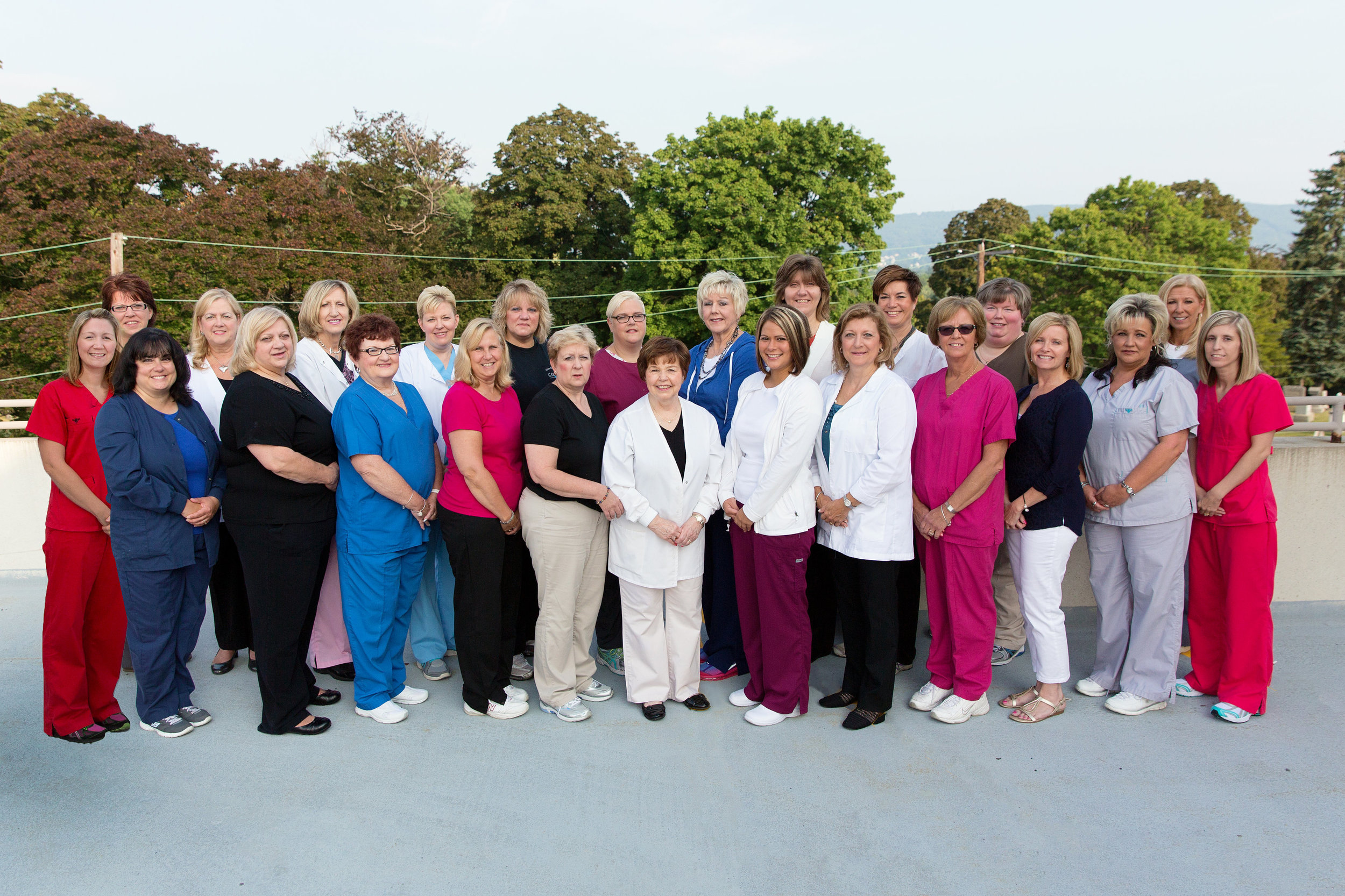 Row One (left to right):  Kelly Brek,  Henrietta Whipple, Theresa Moses,  Jane Gierszal,  Ruth Bierbach,  Betsy Vancosky,  Nancy Parker,  Amanda Brooks,  Diane Mamary,  Denise Tomko,  Renee Conahan, Jennifer Fedor,  April Cipriani   Row Two (left to right):  Carolyn Brennan,  Mary Mcguigan,  Marlene Zekas,  Darlene Orlandine, Yvonne Lamarca, Tamara Walker,  Lisa Yacko,  Patricia Klus,  Deborah Mack, Christine Staub,  Jamie Cosgrove   Absent:  Jennifer Brizgint,  Suzanne Chase,  Patricia Kopec