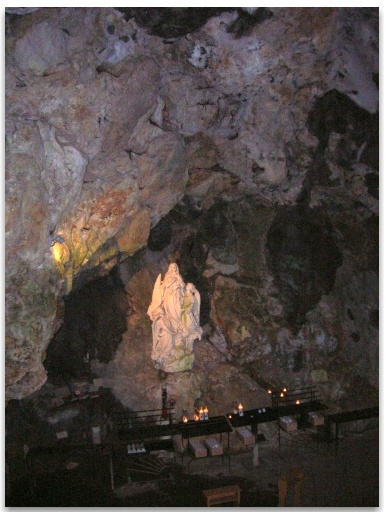 One of the altars in the cave.