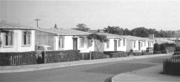 Larkhill Post-War prefabricated homes constructed in state of extreme housing need. Image:yeovilhistory.info