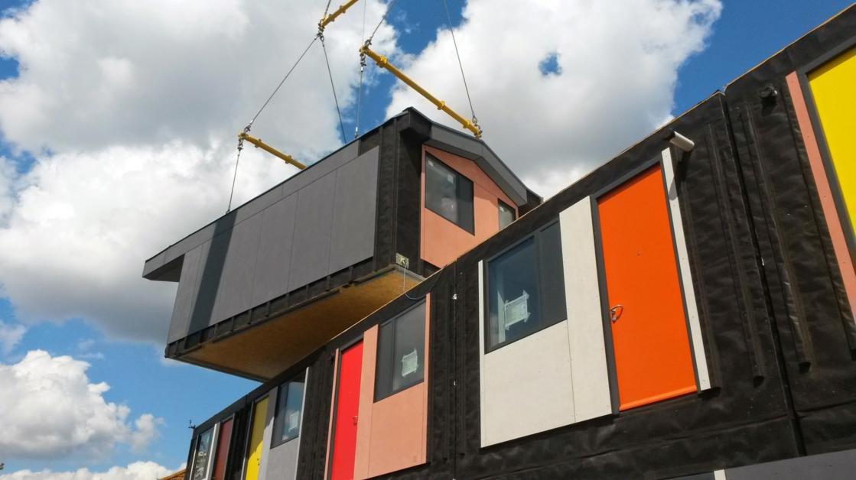 Rogers Stirk Harbour + Partners pilot prefab project in Mitcham, South London. Image:architectsjournal.co.uk