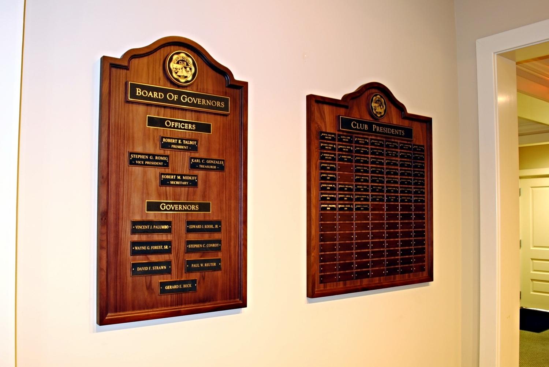 Board of Directors Plaque
