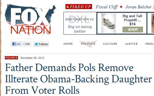 Fox mispells 'illiterate'. Editors!