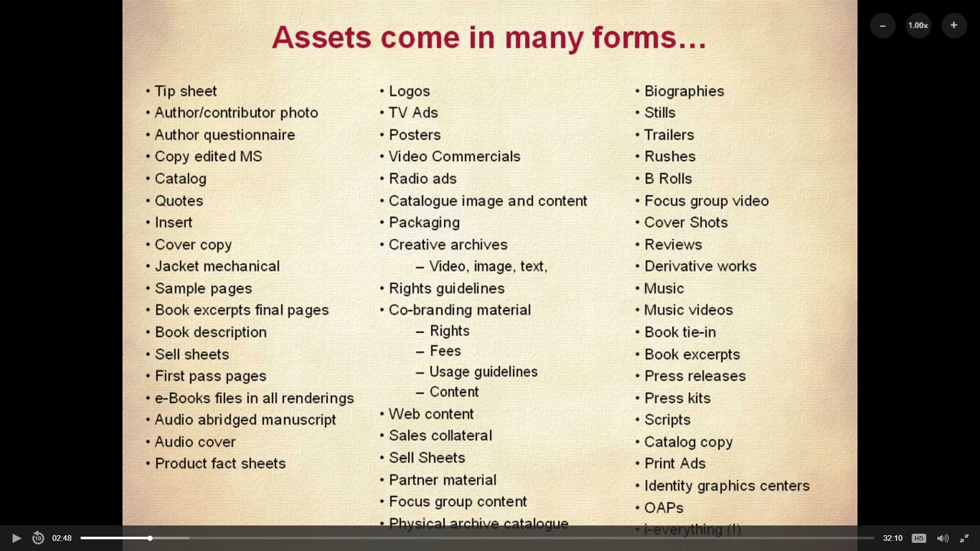 Figure 1 - The many forms digital assets can take ( What is DAM - the discipline and practice of Digital Asset Management )