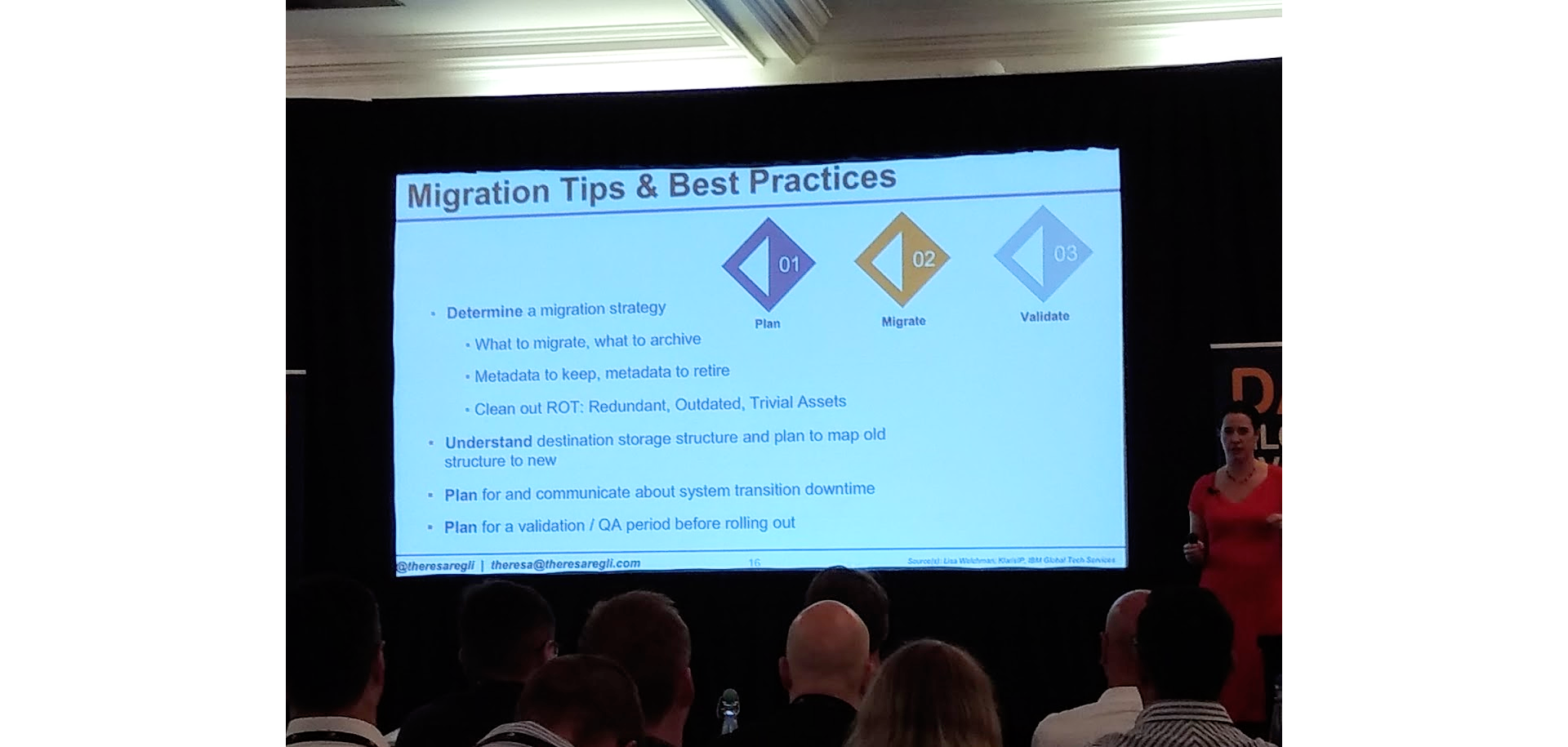 Theresa Regli addresses DAM migration