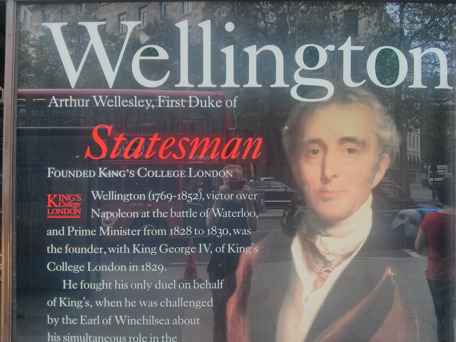 The Duke of Wellington: co-founder of King's College