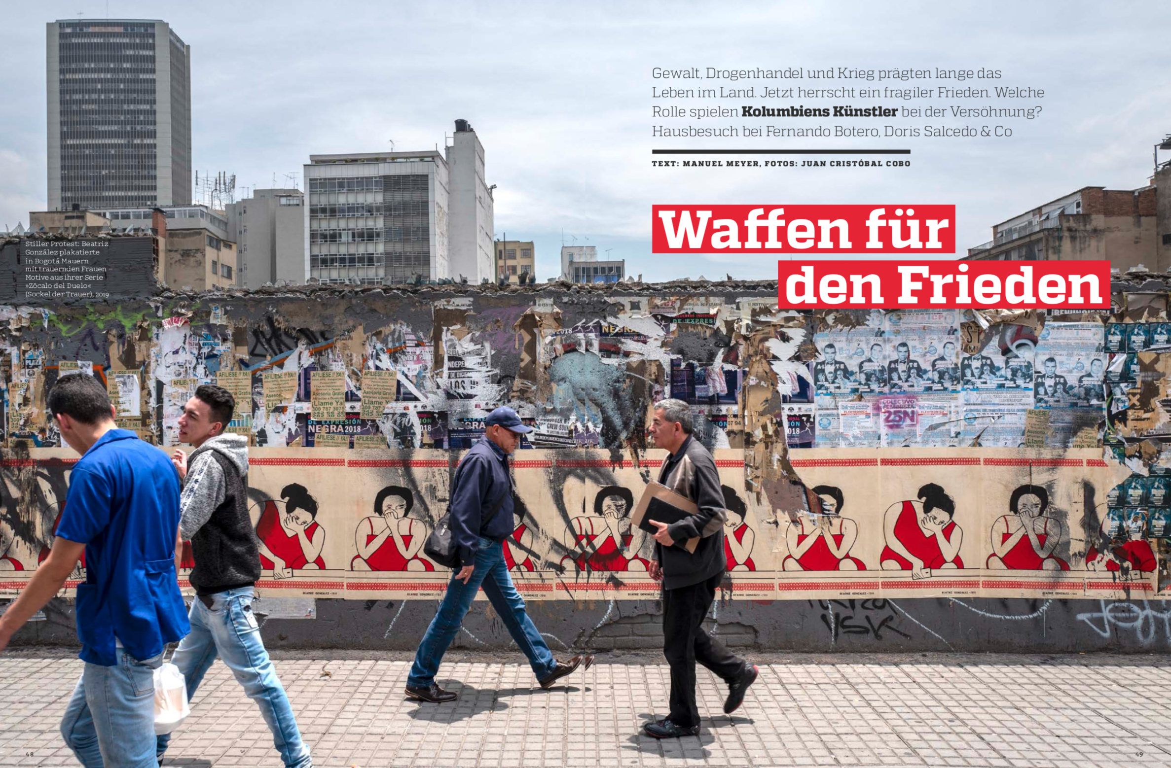 August 1, 2019:  Weapons for Peace,  for  Art Magazin