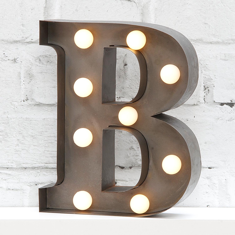"""9"""" Carnival Light Letter B"""