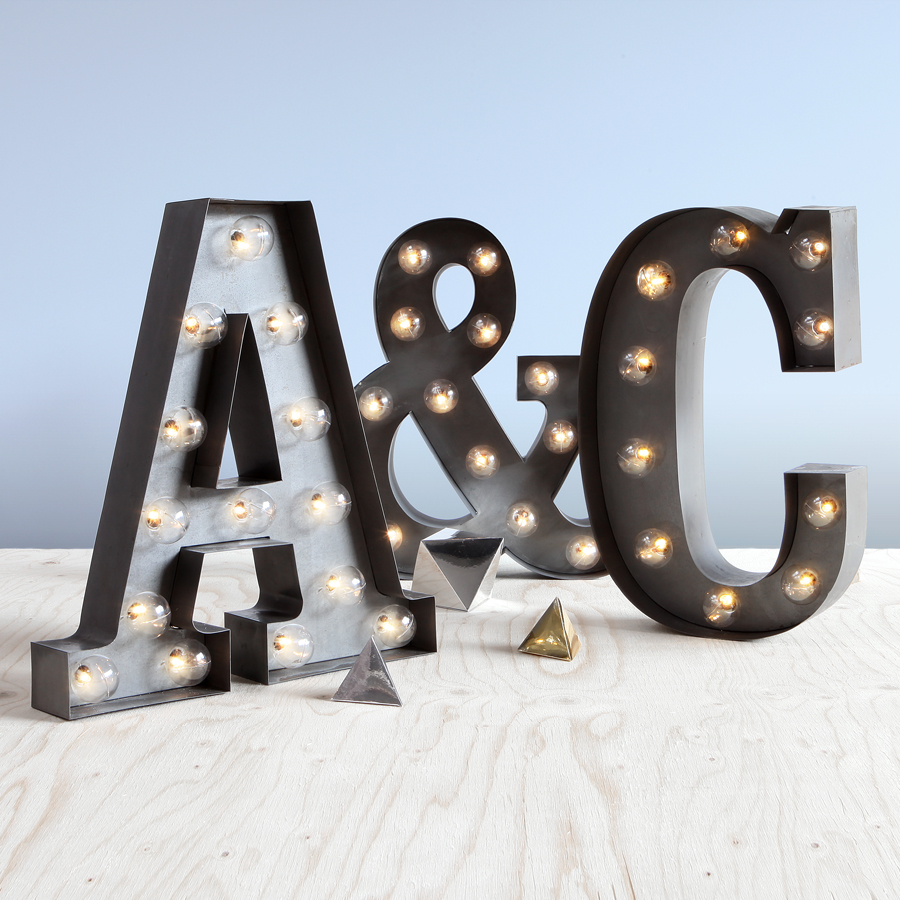 "Why not buy you and your partner's initials and get the Ampersand ""&"" included!  Only when bought through  this offer"