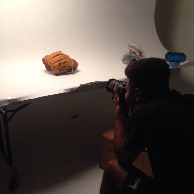 Product shoot underway