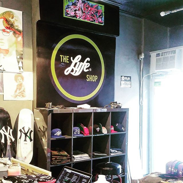 """48"""" x 48"""" decal printed and placed @thelyfeshop .. contact us for custom printed wall vinyl ... just peel and stick like a giant sticker!!"""