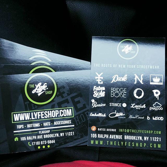 """Fresh new 4""""x6"""" #postcards #flyers designed and printed by us for @thelyfeshop were gearing up for tomorrow look out for the us tmr @sneakercon"""