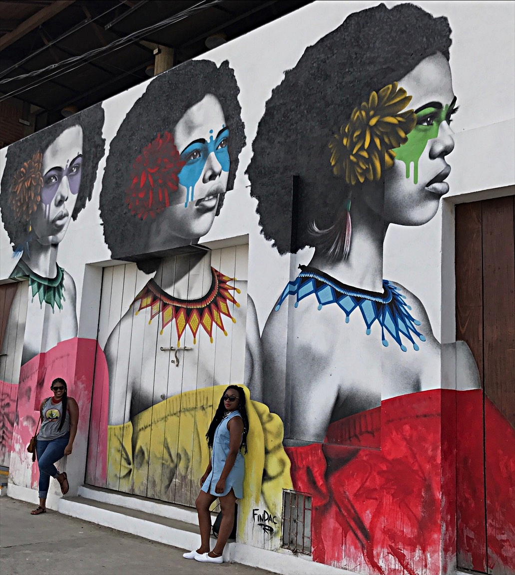 Getting in formation! Afro-Colombian queens displayed in this mural near Getsemani.