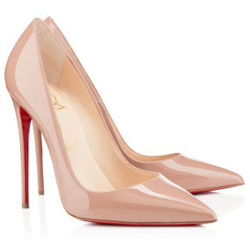 Christian Louboutin So Kate 120mm Patent Leather Pointed Toe Pumps Nude.jpg
