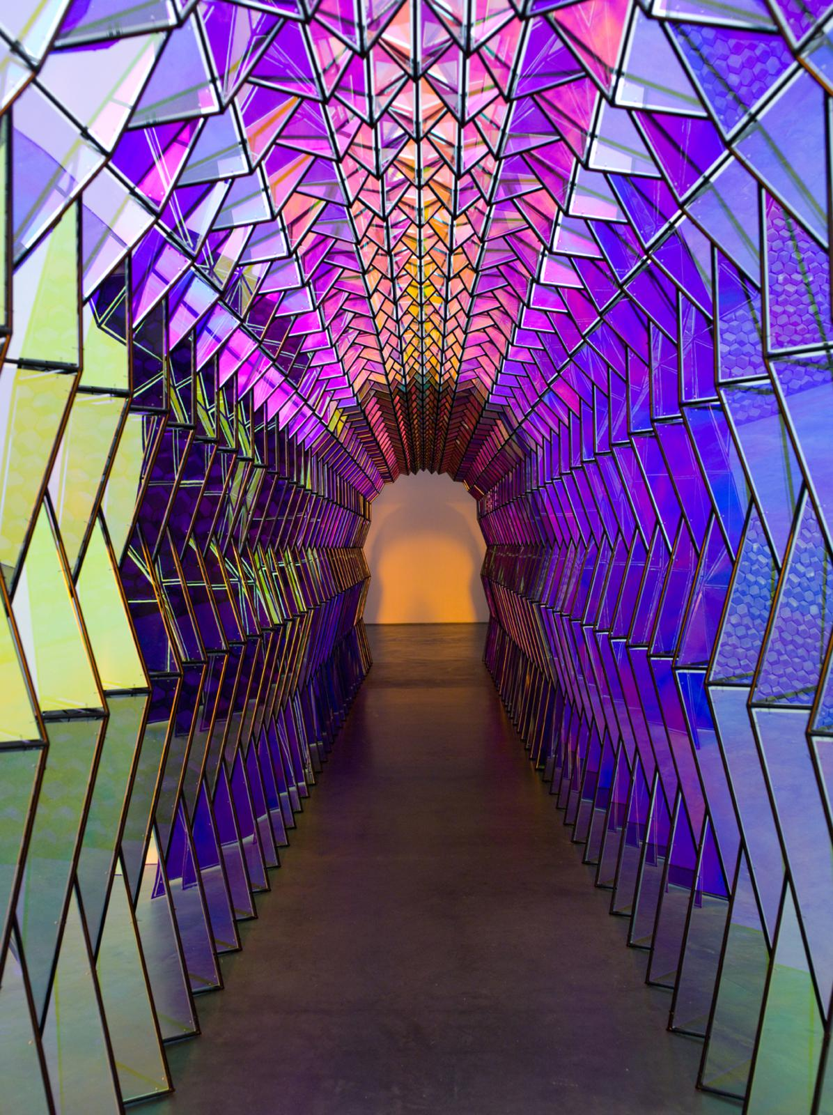 Olafur Eliasson; One-way colour tunnel, 2007; Installation view: Museum of Contemporary Art, Chicago, 2009; Photo: Nathan Keay / Courtesy of Museum of Contemporary Art Chicago © 2007 Olafur Eliasson