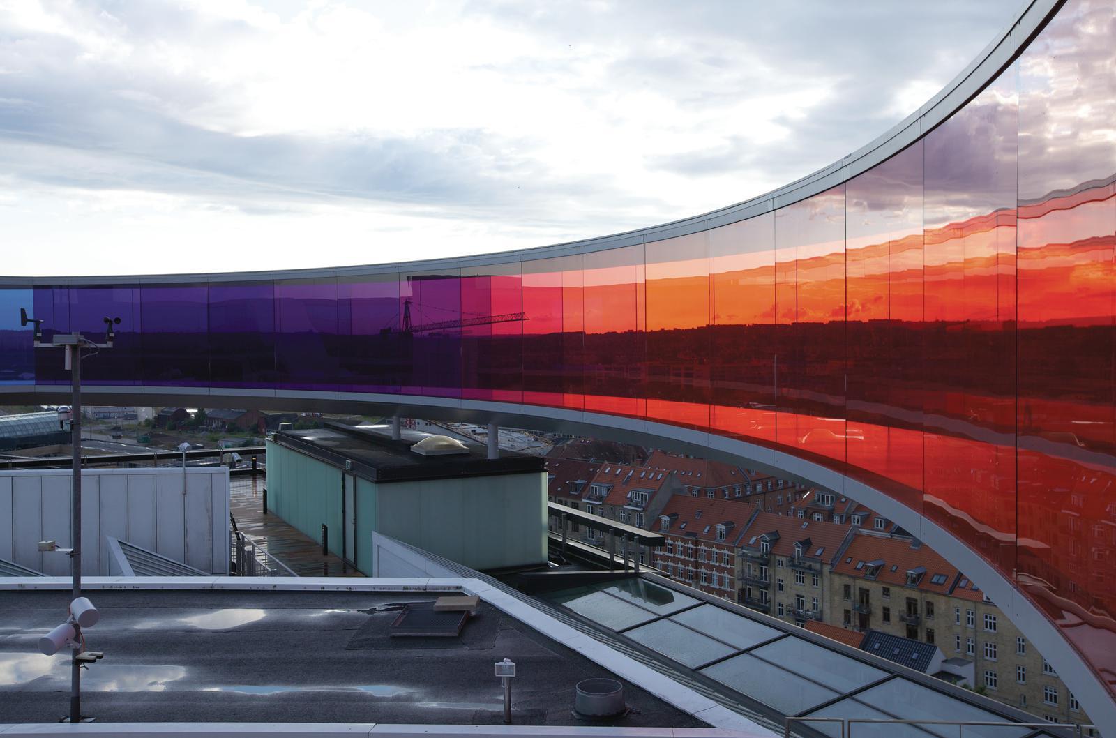 Olafur Eliasson; Your rainbow panorama, 2006-2011; Installation view: ARoS Aarhus Kunstmuseum, Denmark, 2011; Photo: Thilo Frank / Studio Olafur Eliasson / Courtesy: AaRos Aarhus Kunstmueseum © 2006-2011 Olafur Eliasson