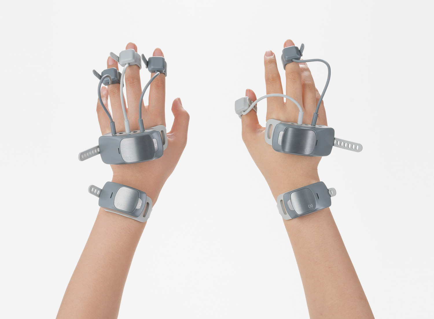 Manovivo is a wearable smart glove designed to monitor and train the impaired hand in daily life