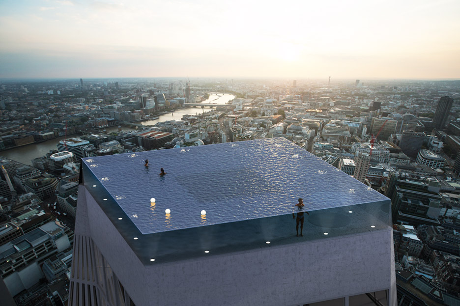 World's First 360-Degree Pool Unveiled For London Skyscraper