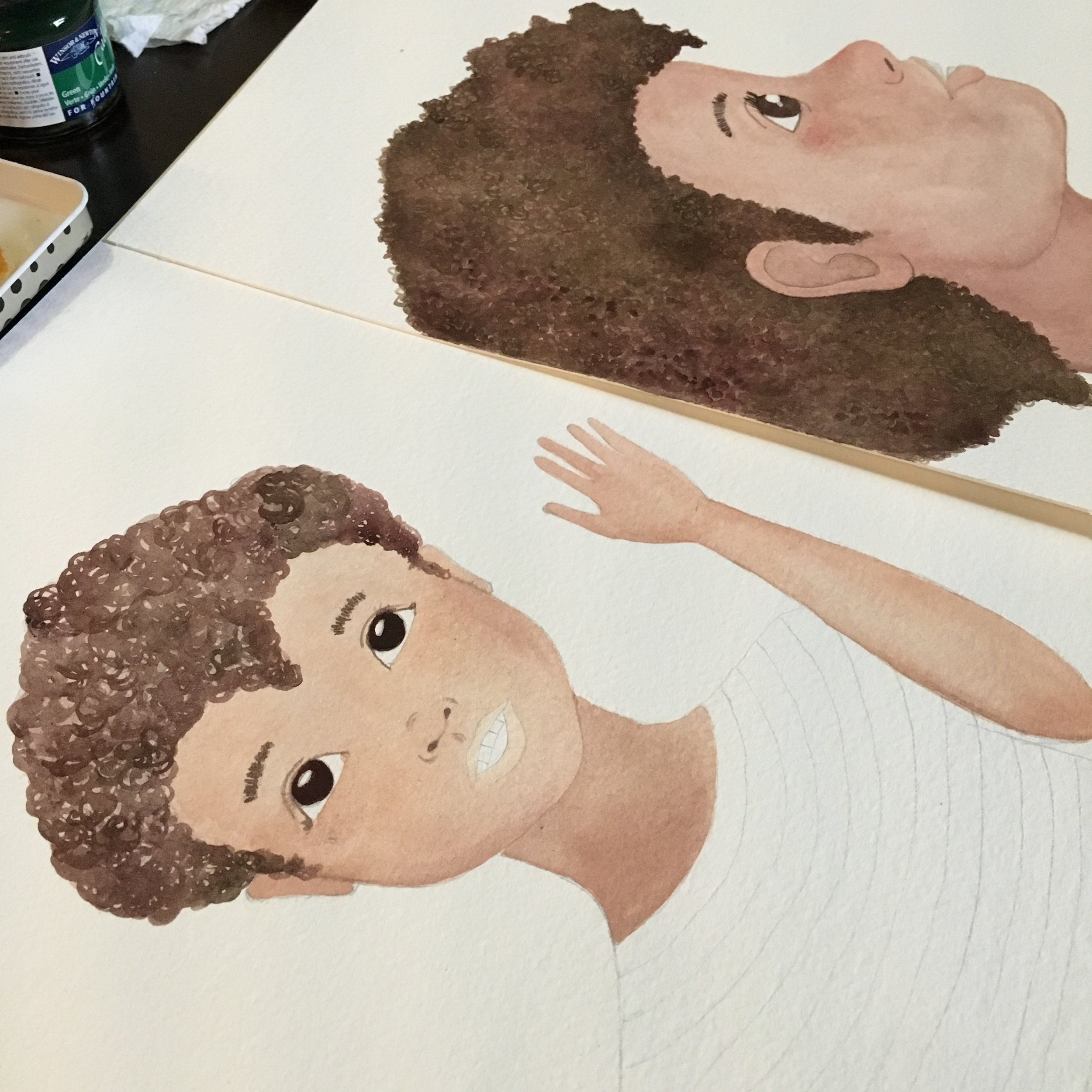 Process of one of the character.
