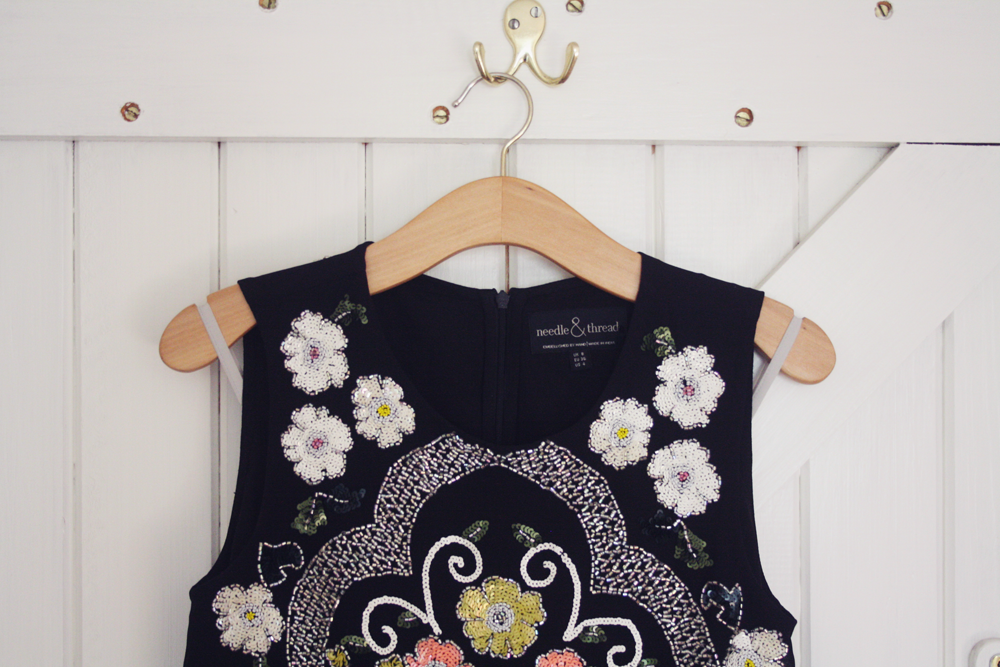 needle & thread embroidered top