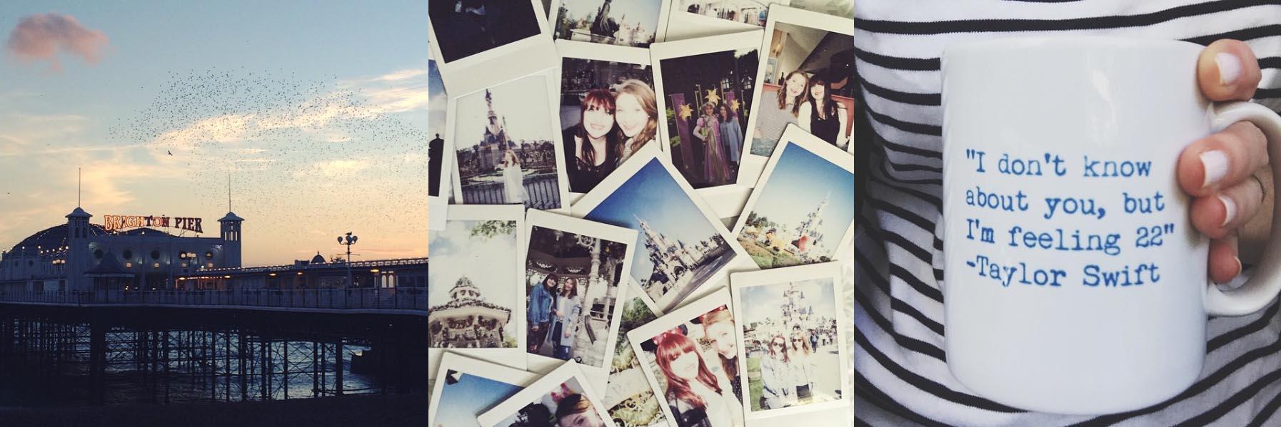 Brighton, Disneyland Polaroids, Turning 22 with more mugs