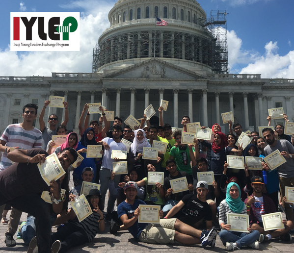 IYLEP - The Iraqi Young Leaders Exchange Program (IYLEP) for high school students provides a fully-funded program to talented Iraqi and U.S. students who demonstrate leadership and civic engagement in their communities. During the program, students engage in experiential learning activities and workshops that further guide their knowledge of civic engagement and intercultural communication.