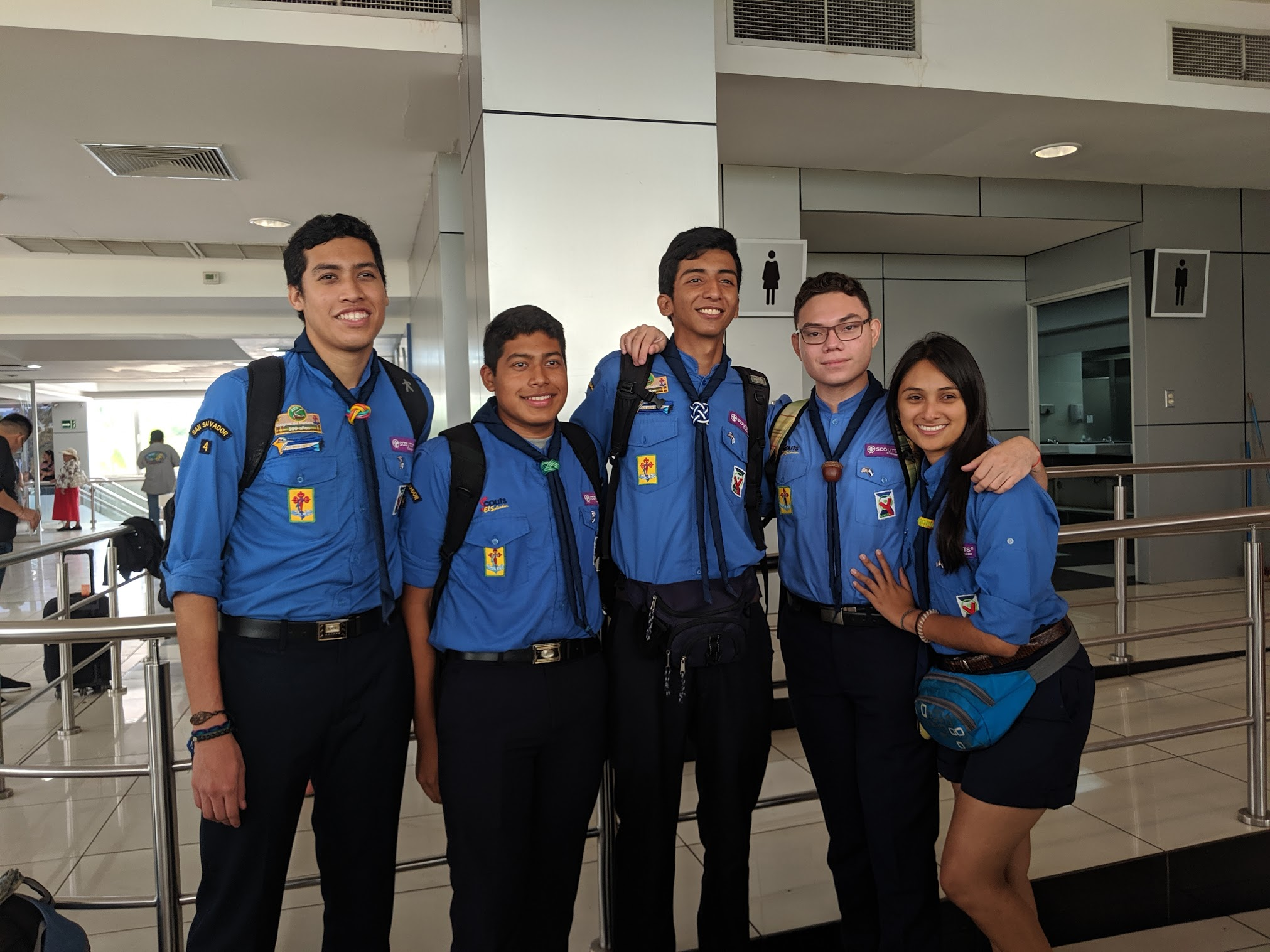 Scouts from El Salvador on their way to the US