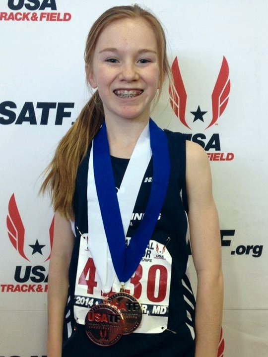 At the USA Track and Field National Meet in Maryland. RTC's Caitlin O'Hare was the overall champion with a record breaking time in the 3,000 meters.