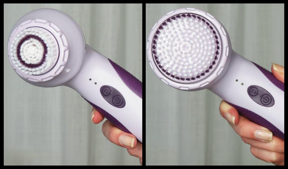 L: face brush, R: body brush