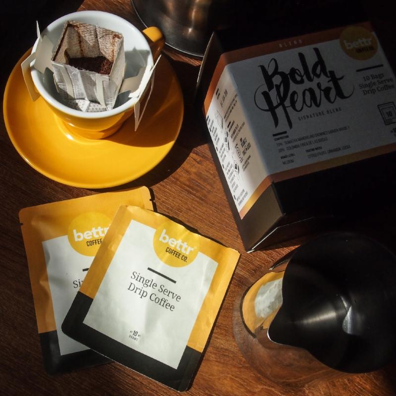 Single-serve drip coffees