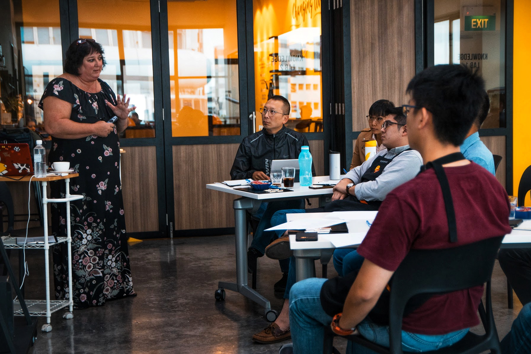 Annemarie has a lifetime of teaching experience - here she shares her knowledge of coffee with students at the Bettr Barista Academy.