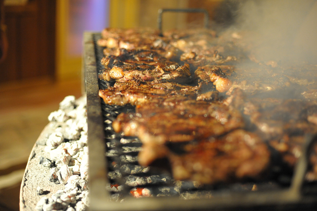 Does anything beat cooking over real charcoals and eating with friends?
