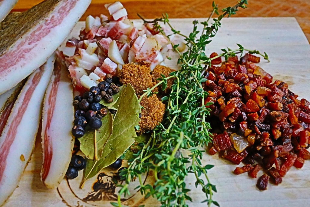 Sometimes summer's bounty only needs a supporting actor, like our guanciale.