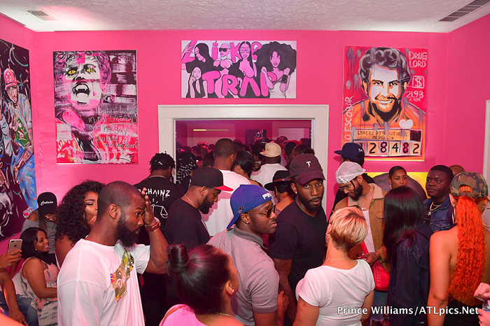 Attendees at  Pretty Girls Like Trap Music  album release party.