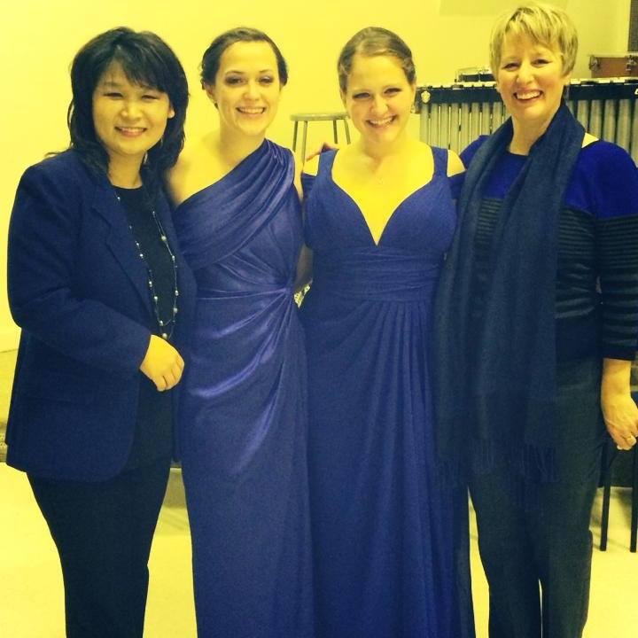 Junior Recital 2013   Left to right: Professor Eun Ae Baik-Kim, Holly Kelly, Ann Fogler, Professor Lynn Helding