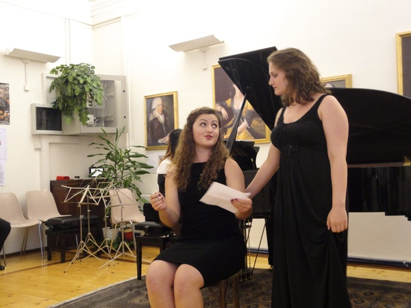 """Ann Fogler and Emily Clay performing """"Sull'aria"""" by Mozart- IMFA 2013"""