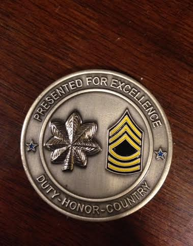 """The medal Ann received after her performance of """"Amazing Grace."""""""
