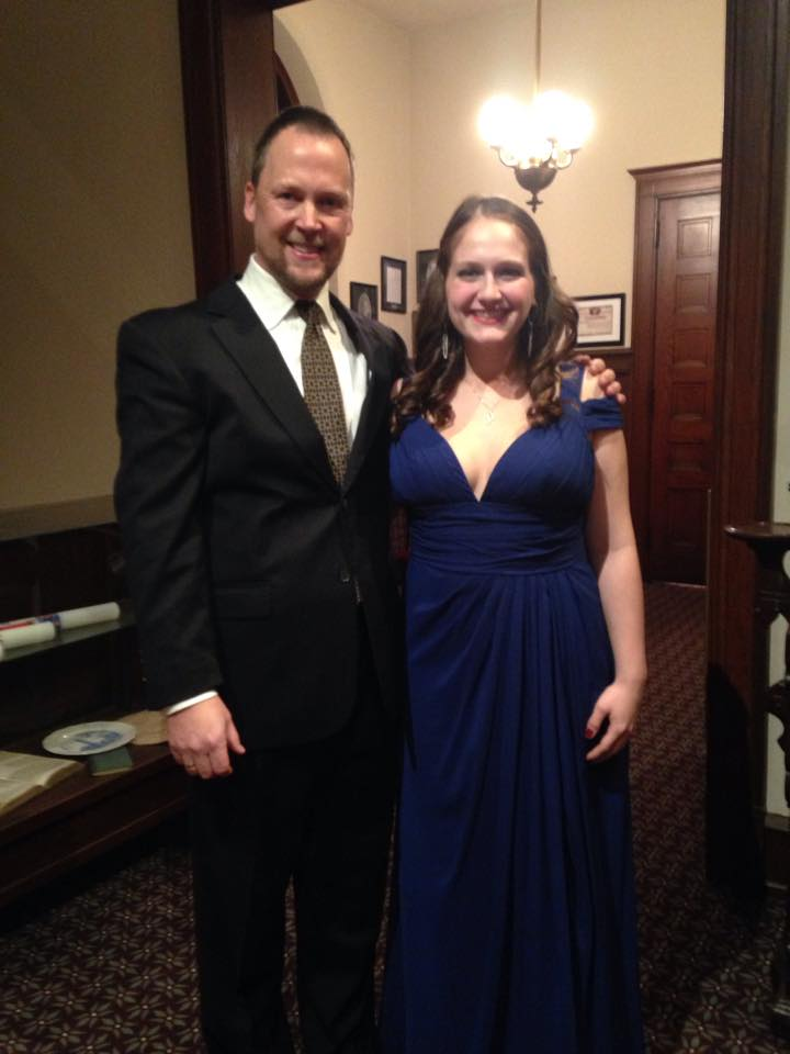 Ann with Professor Robert Pound, Dickinson College Orchestra Conductor, after the concert.
