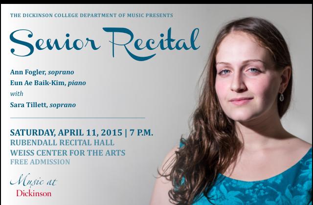 Ann's Senior Recital Poster 2015