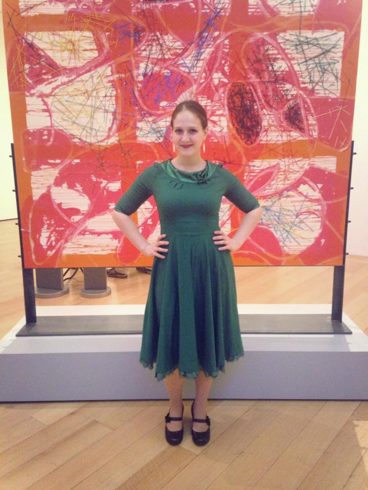 Ann before her performance at the MFA.