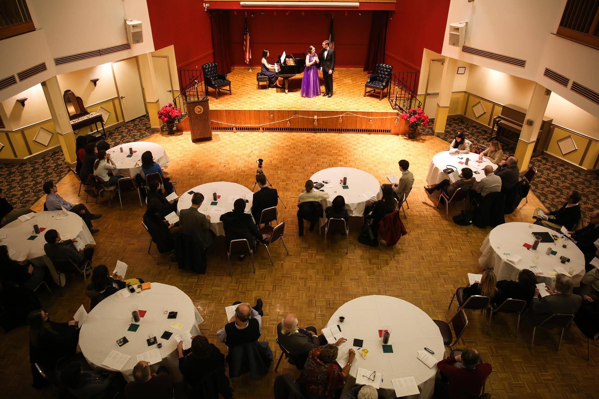 Ann performing with Elijah Blaisdell and Minju Kim during the Boston Art Song Society's Italian Art Song Recital.