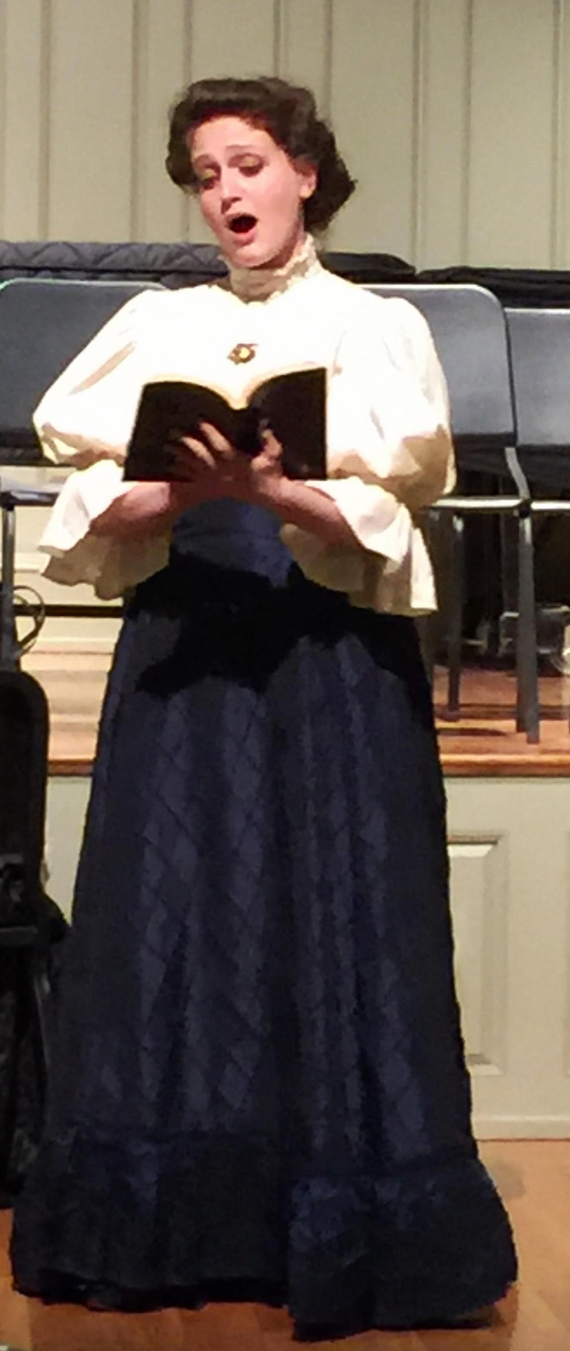 Ann performing as Erika from Samuel Barber's  Vanessa