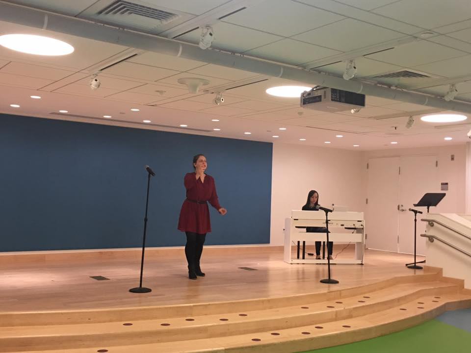 Ann and Linli Wang performing at The Boston Children's hospital