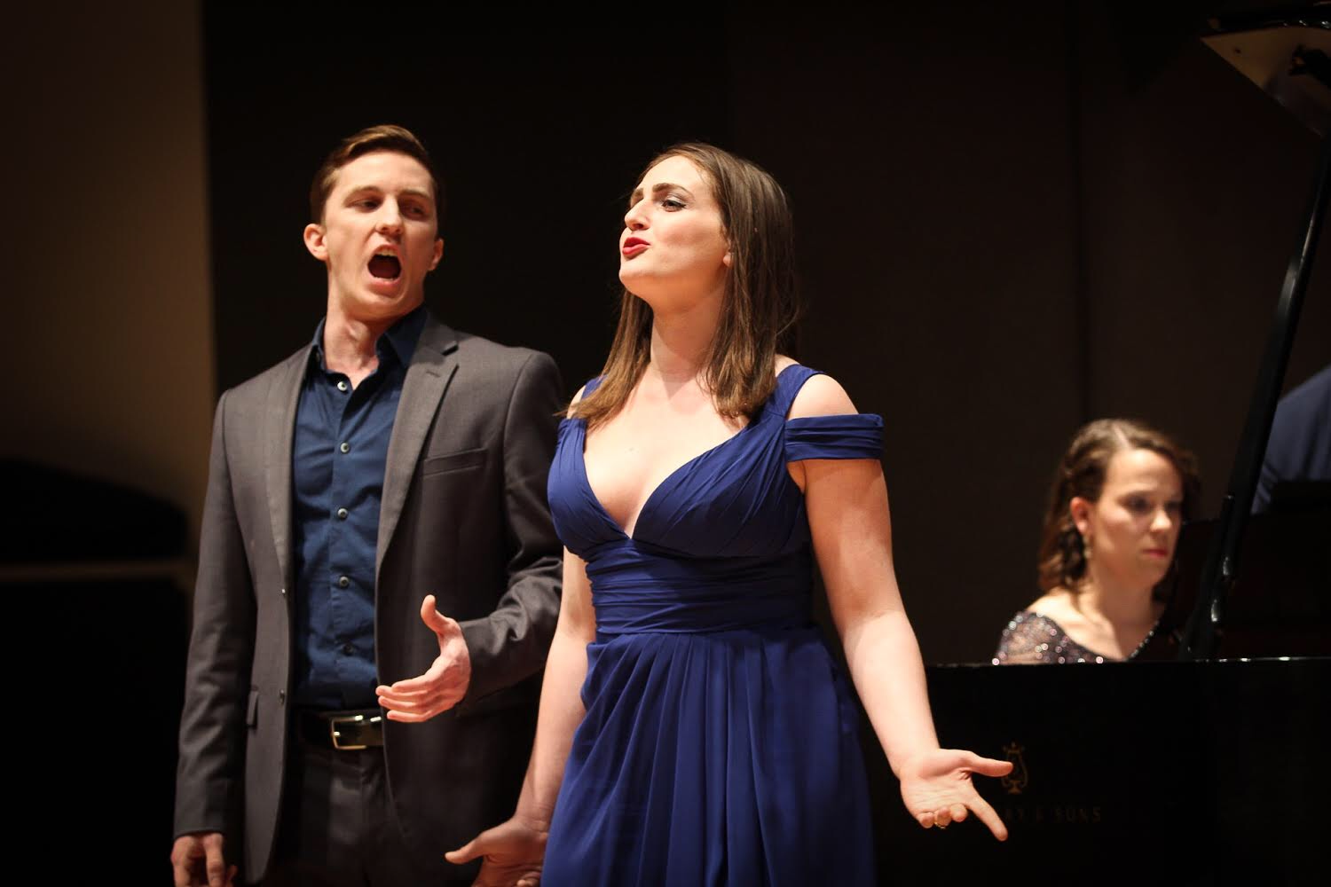 Ann and Dylan Elza performing in Rigoletto Quartet, March 2018.